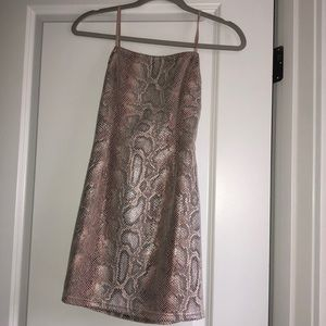 Never worn UO snakeskin dress XS